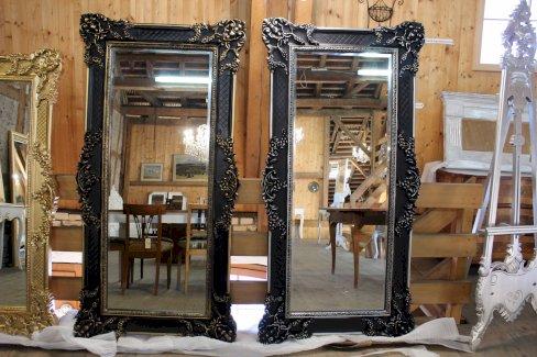 Spiegel schwarz-Gold & schwarz Silber 90X180cm