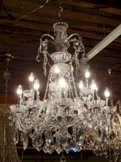 Kronleuchter Bleikristall/Maria Theresia Silber 100cm +Kette - Gratisinserat.ch