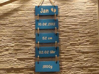 Wandschilder an Seil zum Aufhängen