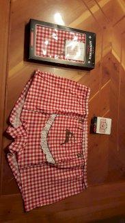 Damen Trägershirt und Panty mit echten Wiesn-Applikationen