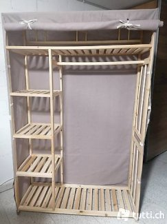 Holzgestell /-schrank Keller mit Vorhang - Gratisinserat.ch