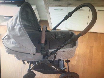 Kinderwagen 3 in 1,von Kinderkraft in grau - Gratisinserat.ch