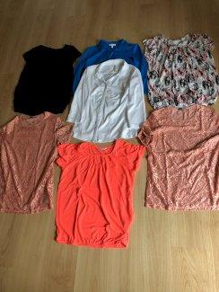 7 Blusen / Shirts Grösse M und 38  - Gratisinserat.ch
