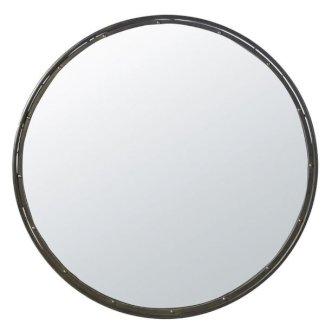 Runder Spiegel mit schwarzem Metallrahmen 120cm