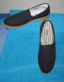 "N.O.S. vtg. 1970s/80s Basic Editions canvas \""Winos\"" sneakers/slip-ons/loafer US 10.5 RAR!s - Gratisinserat.ch"