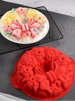 1 Stück Kuchenform in Blumenform