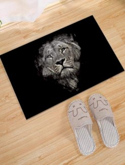 Bodenmatte mit Löwen Muster