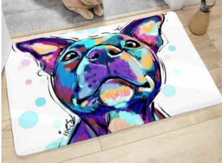 Bodenmatte mit Wasserfarbe Hund Muster - Gratisinserat.ch