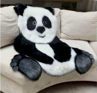 Plüsch Teppich in Pandaform