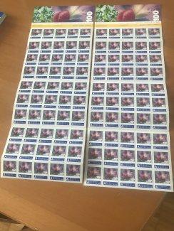 100 Stück 1 Franken Briefmarken