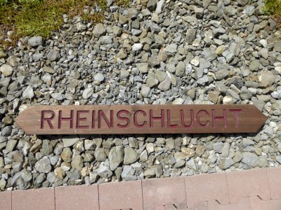 Original Wanderwegweiser Rheinschlucht