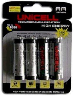 13 Aufladbare AA Batterien von Unicell 3800mAh - Gratisinserat.ch