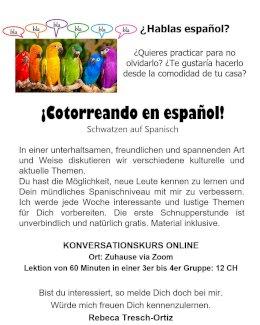 Spanisch lernen - Gratisinserat.ch