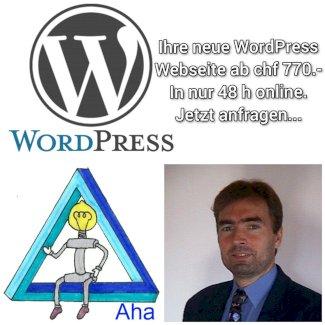 Ihre neue WordPress Webseite ab nur 770.-  - Gratisinserat.ch