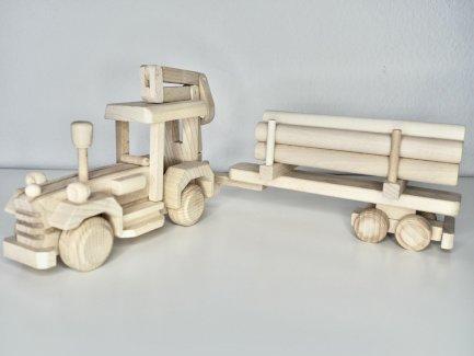 Traktor mit Anhänger aus Holz Spielzeug Modell  - Gratisinserat.ch