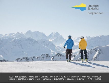 Gutschein Skipass St.Moritz, Celerina, Engadin Schweiz 300 CHF