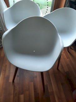 Stühle weiss/holz - Gratisinserat.ch