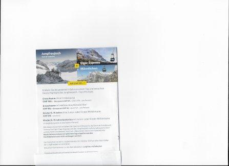 Jungfraujoch + Grindelwald Männlichen Tickets - Gratisinserat.ch