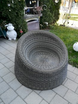 Gartensitz/Gartenstuhl Rattan braun
