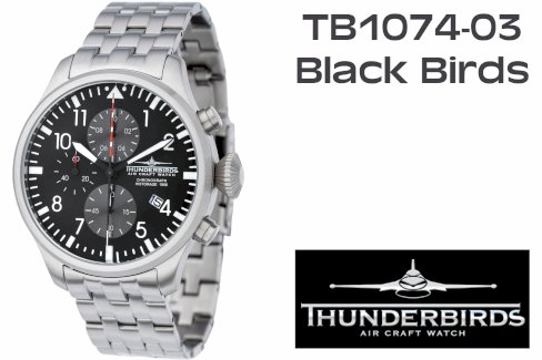 THUNDERBIRDS Chrono TB1074-03 Black Birds - Gratisinserat.ch