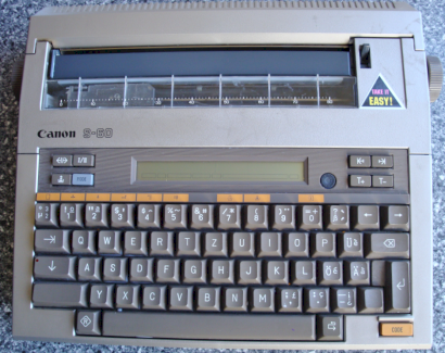 Betriebsanleitung zu Canon Schreibmaschine S-60 - Gratisinserat.ch