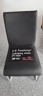 Stuhl lederbezug schwarz freischwingend - Gratisinserat.ch