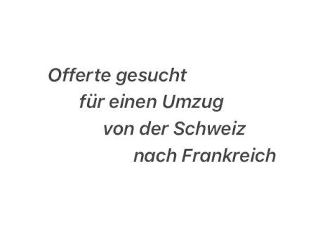 Umzugsofferte - Gratisinserat.ch