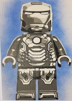 Iron Man LEGO Unikat Stencil Bild - Gratisinserat.ch