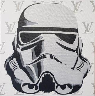 Star Wars Stormtrooper 40x40 cm Unikat, kein Print - Gratisinserat.ch