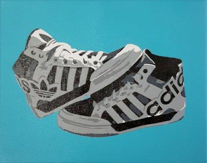Adidas Sneaker Bild, 24x30 cm Unikat - Gratisinserat.ch