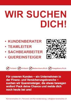 Nebenberufliche/-r Finanz- und Versicherungsberater/-in (10-40%) - Gratisinserat.ch