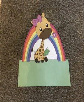 Geburtstafel Babytafal Giraffe - Gratisinserat.ch