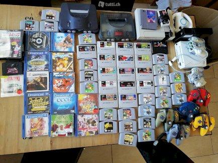2xNintendo 64,1x Dreamcast,1x NES,1x Nintendo Wii+vieleGames - Gratisinserat.ch