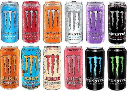Über 40 verschiedene Monster-Energy Drinks - Gratisinserat.ch