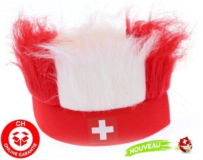 Hopp Schwiiz Schweiz Suisse Nati Fanartikel Stirnband Strubbelhaar Fussball WM EM Hockey Tennis Fan Support Stadion - Gratisinserat.ch