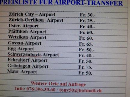 Sommerferien 2021; Günstige Airport Transfer - Gratisinserat.ch