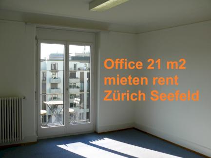 Büro 21 m2, Balkon, Zürich Seefeld, beste Lage, hell, ruhig, günstig - Gratisinserat.ch