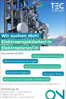 Wir suchen Dich! Elektroplaner/-in oder Elektroprojektleiter/-in - Gratisinserat.ch